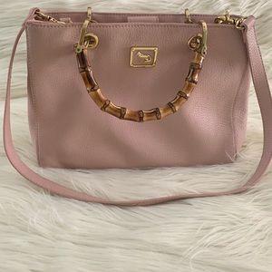 Emma Fox  Satchel Blush Pink Leather Handbag